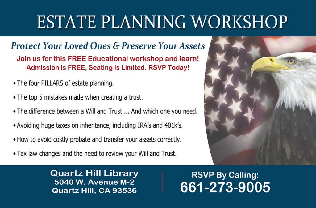 Palmdale Estate Planning Workship